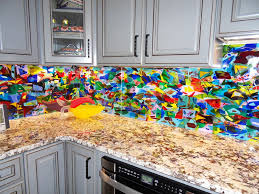 we created 42 square feet of kitchen backsplash panels by combining diffe shapes and colors of glass