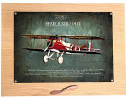 vintage biplane picture metal sign airplane wall art wooden propeller travel theme nursery adventure wall hanging children s room decor on airplane wall art metal with airplane wall art etsy