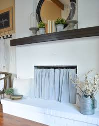 diy fireplace curtain creative and simple way to cover a fireplace opening