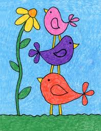 Videos you watch may be added to the tv's watch history and this is a simple video with drawing a mouse designed for beginners artist and kids. Draw Simple Birds Art Projects For Kids