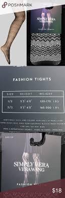 Vera Wang Size Chart Kohl S Simply Vera Vera Wang Fashion Tights Fashion Print Tights