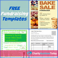 015 Fundraiser Flyer Template Free Ideas Printable Tickets