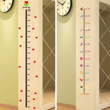 Wall Measuring Chart Lovely Cartoon Pattern Baby Child Growth Height Measurement Chart Wall Sticker Art Decals For Household Decorations