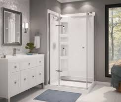 maax athena 42 x 34 corner door shower kit with base and walls
