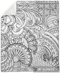 Zentangle Flowers And Mandalas Plush Blanket Pixers We Live To