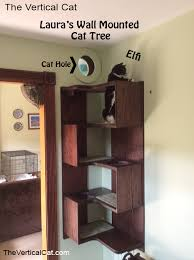 wall tree furniture. the vertical cat laurau0027s wall mounted tree furniture