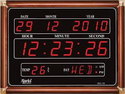 ajanta digital led wall clock olc 113