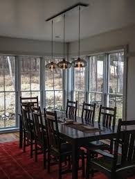 stunning pendant lighting room lights black. Dining Room. Extraordinary Decorating Ideas Using Rectangular Red Rugs And Black Wooden Tables Also Stunning Pendant Lighting Room Lights