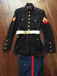 Usmc Dress Blues Size Chart Vintage Usmc Marine Corps Dress Blue Uniform 38 Pant Coat