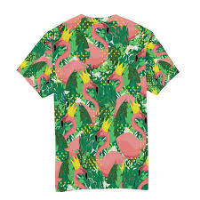 Crown And Ivy Size Chart Wihve Watercolor Flamingo Crown Leaf Mens Crew Neck Short
