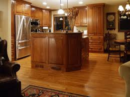 Hardwood Floors In The Kitchen Red Cabinets Floors Dark Kitchen Cabinets With Light Countertop
