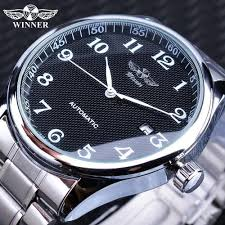 <b>Winner Winner</b> Fashion Simple Black <b>Watches</b> Date Display Silver ...