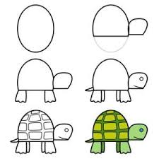 turtle drawing for kids. Contemporary For How To Draw A Turtle On Drawing For Kids D