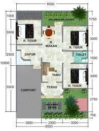 20 contoh gambar denah rumah minimalis 3 kamar tidur masa kini