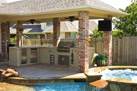 backyard designs with pool and outdoor kitchen. Modren Outdoor Pool And Patio Design Covered Unique Outdoor Kitchen Ideas  Designs Pictures With Backyard Designs Pool And Outdoor Kitchen O