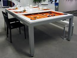Image Combo Aramith Fusion Dining Pool Table White Lacquer Robbies Billiards Aramith Fusion 7 Dining Pool Table Robbies Billiards