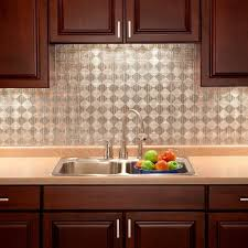 Kitchen Backsplash Panel 18 In X 24 In Traditional 1 Pvc Decorative Backsplash Panel In