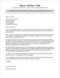 Dental Assisting Cover Letters Dental Assistant Cover Letter Sample
