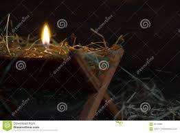 Manger Light Manger Jesus And Light Of Hope Abstract Christmas Symbol