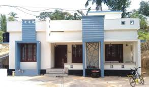 1080 sq ft 2 bedroom single floor low budget modern house and plan