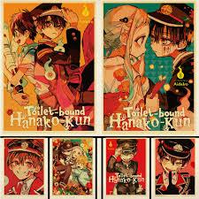 See more ideas about hanako, anime, hanko. Vintage Japanese Anime Jibaku Shounen Hanako Kun Retro Posters Kraft Paper Printed Wall Stickers Home Bar Decoration Painting Calligraphy Aliexpress