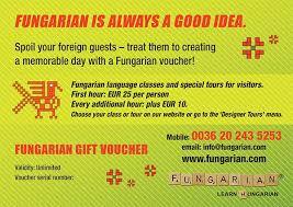Creating A Voucher Extraordinary Fungarian Voucher Fungarian Hungarian Language Classes Tours