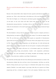 racial discrimination essay examples persuasive essay on racism  academic assignment essay racial discrimination topgradepaperscom get your work done by topgradepaperscom who does racial
