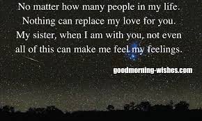 beautiful good night messages for sister