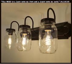 jar lighting. Jar Lighting. Mason Vanity 3-light New Quart Clear - The Lamp Goods Lighting