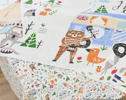 decor linen fabric multiuse: cotton linen fabric kids cartoon style fox bears fabric curtain fabric upholstery home decor quot cm