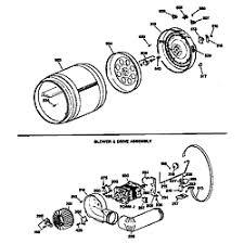 ge dryer parts model dde7200sblww sears partsdirect blower