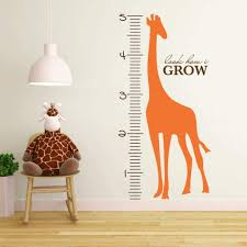 Kids Growth Chart Wall Decal Measurement Chart Db204 Designedbeginnings