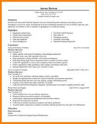 Machinist Resume Machinist Resume Examples Machine Operator Production Classic 22