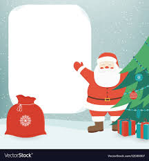 Christmas Card With Santa Claus Template With