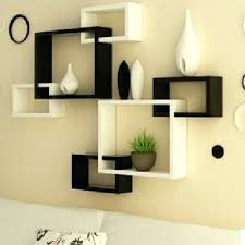 square wall shelf 3 black floating shelves set of dual tone black n white cross cut square wall shelf