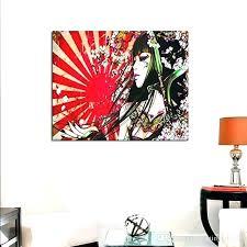 japanese wall decor wall art geisha girl custom canvas print wall art painting wall decor geisha