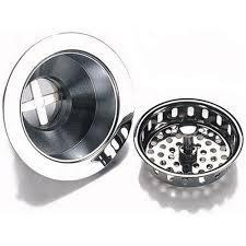 Kraus Stainless Steel Kitchen Sink Basket Strainer Drain New Font Stainless Steel Kitchen Sink Basket Strainer