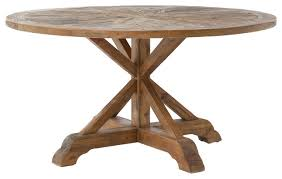 hughes opio round dining table rustic dining tables by the khazana home austin furniture