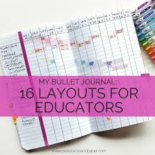 Research Paper Layouts 16 Bullet Journal Layouts For Educators Pretty Prints Paper