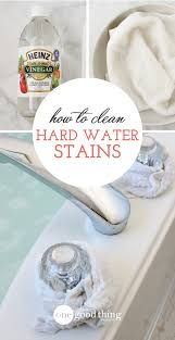 easy way to do bathtub stain removal for your bathroom with environmentally friendly home materials