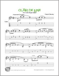 clair de lune sheet music guitar clair de lune debussy easy guitar sheet music tab