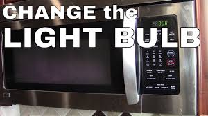 Samsung Me18h704sfg Light Bulb Change The Light Bulb In A Lg Or Samsung Microwave Oven How To