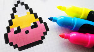 Drawing pixel art is easier than ever while using pixilart. Handmade Pixel Art How To Draw Kawaii Star From Super Mario Pixelart By Hello Pixel Art
