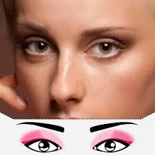 makeup for downward slanting eyes