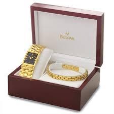 bulova gold tone and bracelet set men s watch 97x100 watchtag com bulova gold tone and bracelet set men s watch 97x100