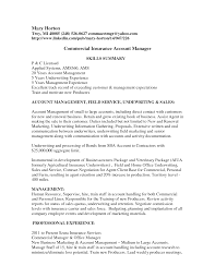 100 Insurance Broker Resume Template Sample Commercial Underwriter