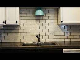 how to install a subway tile kitchen