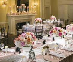 garden gate fl created a focal point for the lace runners and pale pink linens from bbj