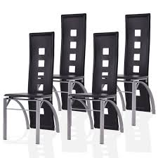 black leatherining chairs room chair slipcovers real with chrome legs brown modern covers