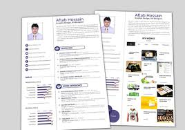 2 Page Resume Interesting 60 Free Creative Resume Templates For Photoshop And Illustrator